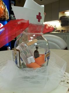Centerpiece for Nurse Retirement Party