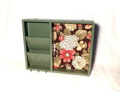 Fabric Covered Cork Board Mail Sorter Key by MakingMidCenturyMod