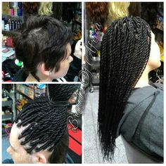Instant baby dreadlocks with extensions on short hair with an wrap and twist single braids on very short hair pmusecretfo Choice Image