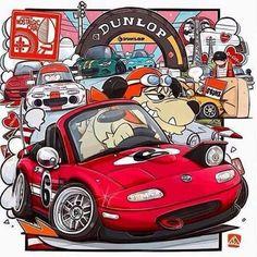 Ricky Silverio Mazda Miata NA by San Mamiya Mazda Mx 5, Mazda Miata, Miata Mods, Miata Car, Mx5 Na, Car Animation, Mazda Roadster, Jdm, Performance Parts
