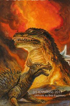 Godzilla and Anguirus by Bob Eggleton 2011
