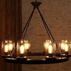 Chandelier,6 Light,Northern Europe Style Originality Lamp Metal - CAD $ 664.99