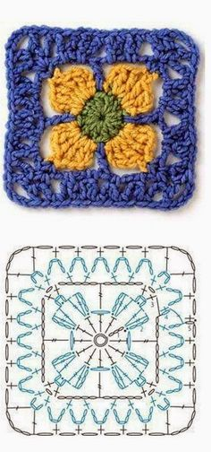 FIFIA CROCHETA blog de crochê : lindos quadradinhos de crochê com gráfico