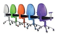 Sillas de estudio Dile Office. Silla alta giratoria modelo Flax ¡ 5 colores !