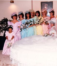 How about an ugly wedding dress party? Let the guests go to thrift stores or .How about an ugly wedding dress party? Let guests search for ugly wedding dresses in thrift stores or online that Ugly Wedding Dress, Wedding Party Dresses, Wedding Attire, Dress Party, Vintage Wedding Photos, Vintage Bridal, Vintage Weddings, Vintage Prom, Funny Vintage