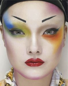 Yumi Lambert is the pop art geisha with a colorful look photographed by Erwin Olaf for Jalouse March 2013.