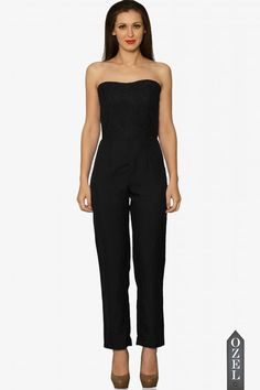 Young Love Strapless Jumpsuit by Miss Chase