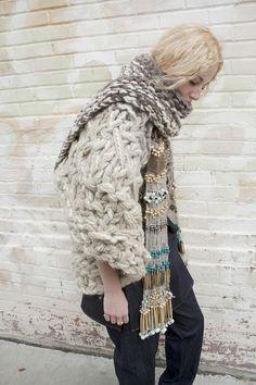 amandahendersonknits:  amanda henderson knits / douglas shrug / photo by chelsey culmann