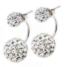 Double Sided Laura Crystal Earrings