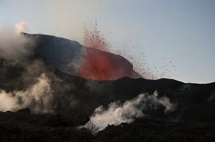 Hot lava and toxic fumes... by Oddur Jóns, via Flickr