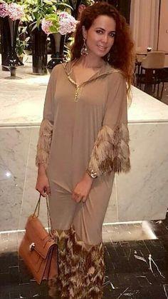 Beldi my brown cloth Kaftan Designs, Kaftan Style, Caftan Dress, African Wear, African Dress, African Fashion Dresses, Fashion Outfits, Fashion News, Women's Fashion
