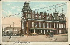 Market Hall, Barrie, Ontario, Canada    Creator: Valentine & Sons' Publishing Co. Ltd  Date: 1910