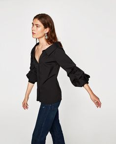 3ad3eacce7729 SHIRT WITH GATHERED SLEEVES - COLLECTION-SALE-WOMAN