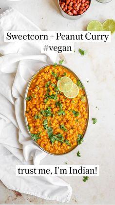 Vegan Dinner Recipes, Indian Food Recipes, Keto Recipes, Vegetarian Recipes, Healthy Recipes, Keto Foods, Healthy Meals, Ethnic Recipes, Peanut Curry