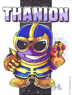 "The final hand-colored Purple Thanos I called ""Thanion""."