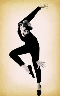 Loafers, skinny pants & turtleneck - audrey hepburn funny face