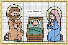 Cross Stitch Cards, Cross Stitch Rose, Cross Stitching, Religion, Christmas Cross, Plastic Canvas Patterns, Needlepoint, Cross Stitch Patterns, Diy And Crafts