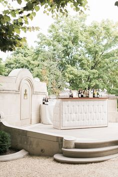 Our Homestead Tufted Bar looking beautiful at Matt & Adeline's wedding at The Meridian House in Washington DC. Image by Kimberly Florence Photography