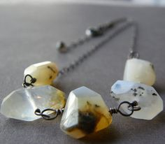 Rough Cut Freeform Nugget Necklace Yellow by RachelUngerJewelry, $42.00