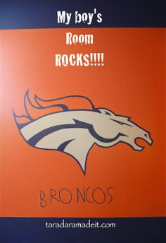 10 Denver Broncos Mural I Painted On Our Living Room WallWe