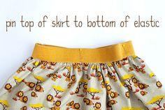 Skirt Week 2013 tutorial: a simple gathered or pleated skirt on elastic waistband