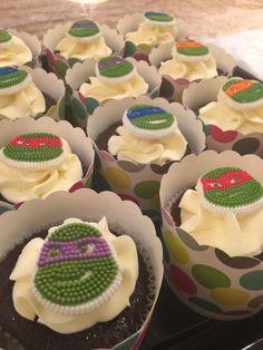 Teenage mutant ninja turtles cupcakes Birthday Cupcakes, Teenage Mutant Ninja Turtles, Party, Desserts, Food, Anniversary Cupcakes, Tailgate Desserts, Deserts, Essen
