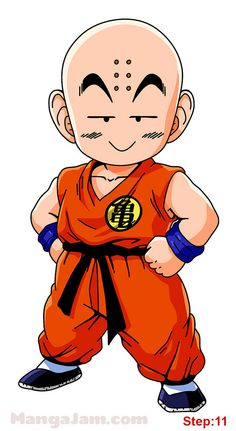 How to Draw Krillin from Dragon Ball step 11