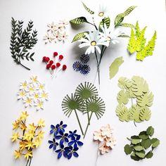 (4) Foto di Diana Beltran Herrera - Diana Beltran Herrera Origami, Flower Cards, Paper Flowers, Crafts To Do, Diy Crafts, Diy Postcard, Paper Plants, Paper Pom Poms, Pressed Flower Art