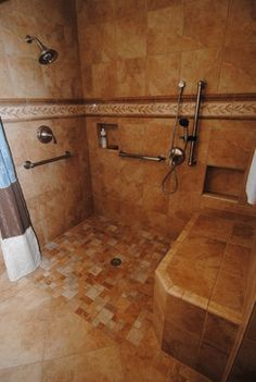 1000 images about bathroom remodel on pinterest grab bars wheelchairs and handicap bathroom for Handicap accessible bathroom remodel