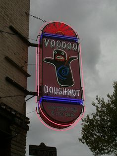 Voodoo Donuts Sign , Portland Oregon USA