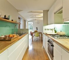 Photo from houzz app, lovely costal coloured kitchen