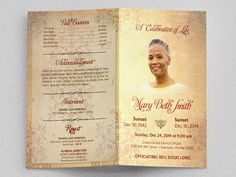 Loving Memories Funeral Program Publisher Template