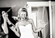 Adorable photo of the bride getting ready by JAG Studios | via junebugweddings.com