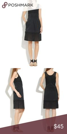 EUC Madewell Eyelet Lovesong Dress Black Madewell Eyelet Lovesong Dress - only worn once! Perfect light weight cotton Eyelet dress for summer. Partially lined, with peekaboo Eyelet shoulders and hem. 38.5 inches long. Madewell Dresses