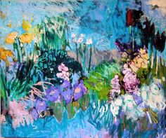 """Marie Theres Berger, 2006 """"Etang"""" huile sur toile oil on canvas    Read more: marietheresberger..."""