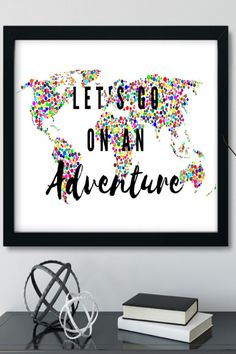 Looking for a travel spotty wall art prints to go in your home? This colourful adventure quotes art is the perfect addition to your bedroom decor. It is an instant download so you can print it straight away, no having to go out to shops, no waiting times, no shipping costs! Awesome!! Click through to find more motivational and colourful quotes and styles #travelwallart #colourfulart #bedroomdecor #instantdownload #adventurequotes Motivational Wall Art, Inspirational Wall Art, Feminine Office Decor, Travel Wall Art, Decor Ideas, Gift Ideas, Adventure Quotes, Office Wall Art, Poster Wall