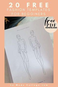 Fashion Figure Templates, Fashion Design Template, Fashion Design Sketchbook, Fashion Sketches, Drawing Skills, Drawing Techniques, Fashion Illustration Template, Become A Fashion Designer, Drawing Templates