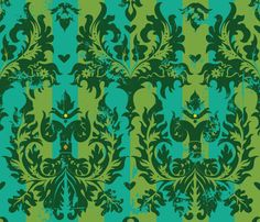 Marie's Salon fabric by cynthiafrenette on Spoonflower - custom fabric