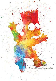 Bart Simpson .  Watercolor illustrations Art от ItemsFromAlexander