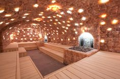 Sauna built into a salt cave in the Netherlands. [800 x 533] - Imgur