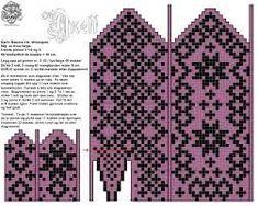 Bilderesultater for mønsterstrikk Knitted Mittens Pattern, Fair Isle Knitting Patterns, Knit Mittens, Knitting Charts, Afghan Crochet Patterns, Knitting Stitches, Baby Hats Knitting, Knitting Socks, Hand Knitting