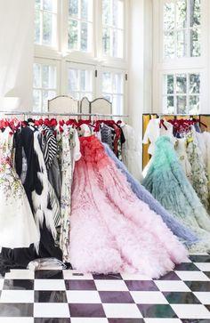 A Giambattista Valli Couture Show At The Duke Mansion