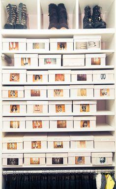 Genial idea para que tus zapatos estén siempre organizados #organizar #vestidor
