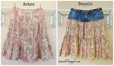 denim recycled skirt
