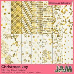 #Christmas Joy - Glittery Gold - http://luvly.co/items/4407/Christmas-Joy-Glittery-Gold