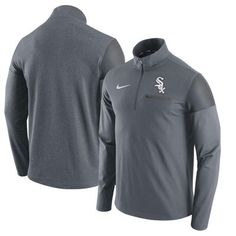Chicago White Sox Nike Elite Half-Zip Pullover Jacket - Gray