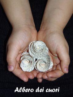 Albero dei cuori: Rose di carta: un tutorial per voi