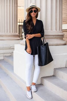 Black And White Casual Outfit