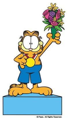 Garfield, wins the gold medal. Garfield Quotes, Garfield Cartoon, Garfield And Odie, Garfield Comics, Best Cartoons Ever, Old Cartoons, Garfield Pictures, I Hate Mondays, Orange Tabby Cats