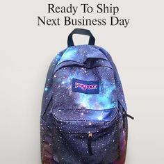 a036b3eade43 JanSport Galaxy Backpack - Airbrush Painted Backpack - Everyday Backpack  Cute Jansport Backpacks